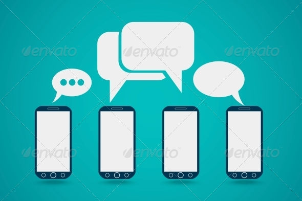 GraphicRiver Phone with Bubble Speech 6433472