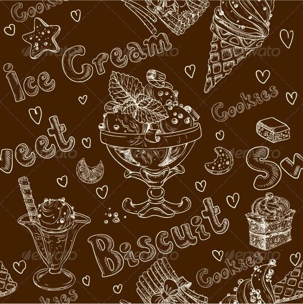 GraphicRiver Ice Cream Seamless Background 6433504