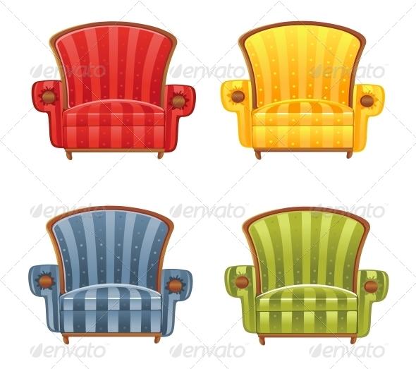 GraphicRiver Color Bright Vector Armchair 6433771