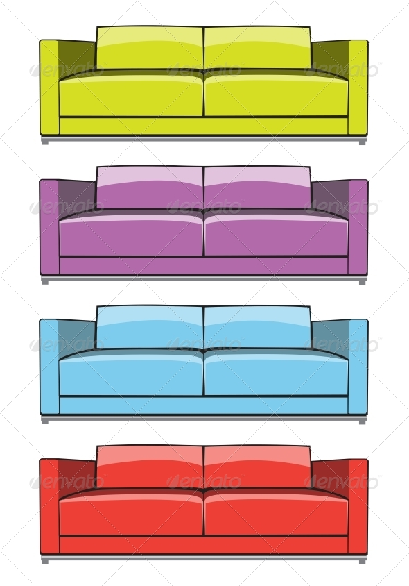 GraphicRiver Sofa in Some Color Variations 6433784
