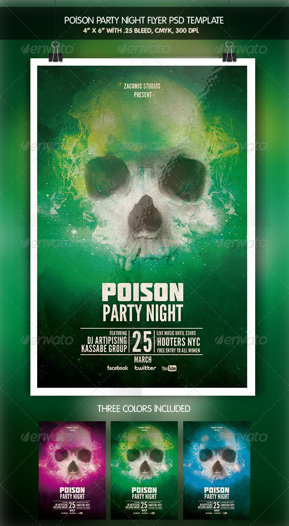 GraphicRiver Poison Party 6434084