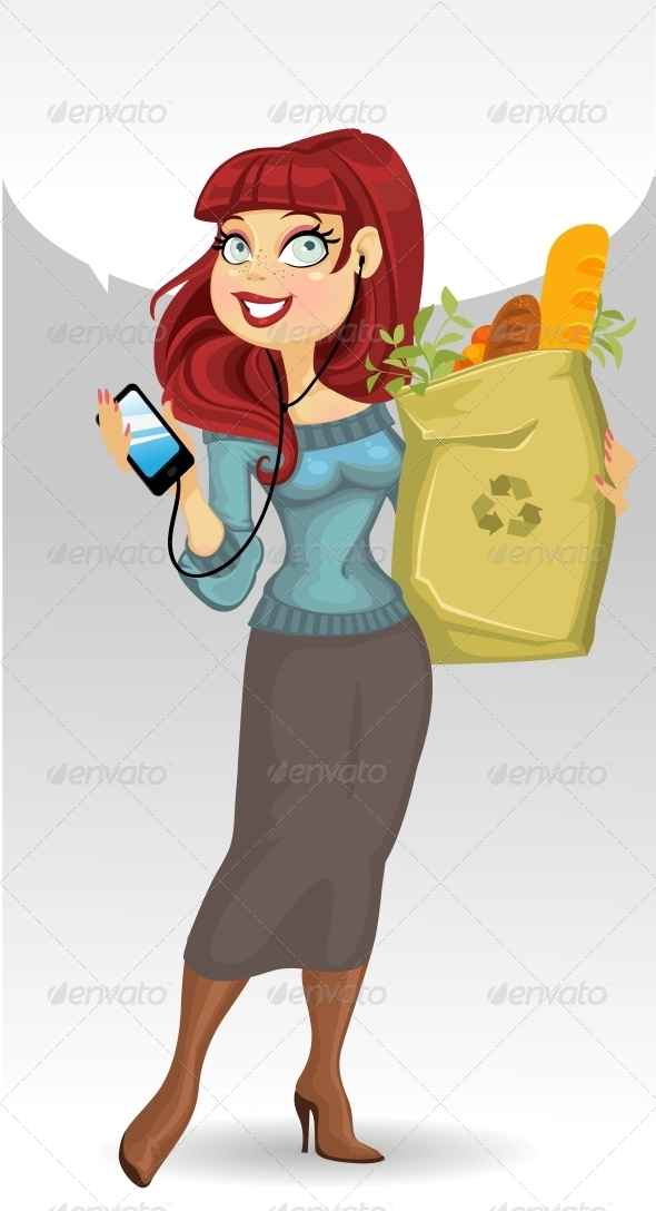 GraphicRiver Woman with the Health Food Package 6434207