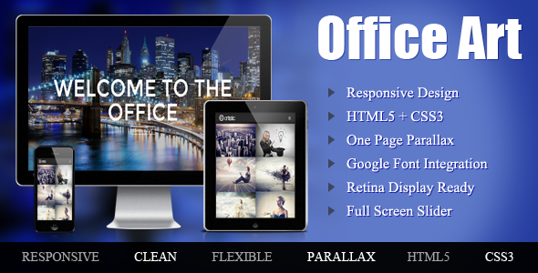 ThemeForest Office Art One Page Parallax 6376199