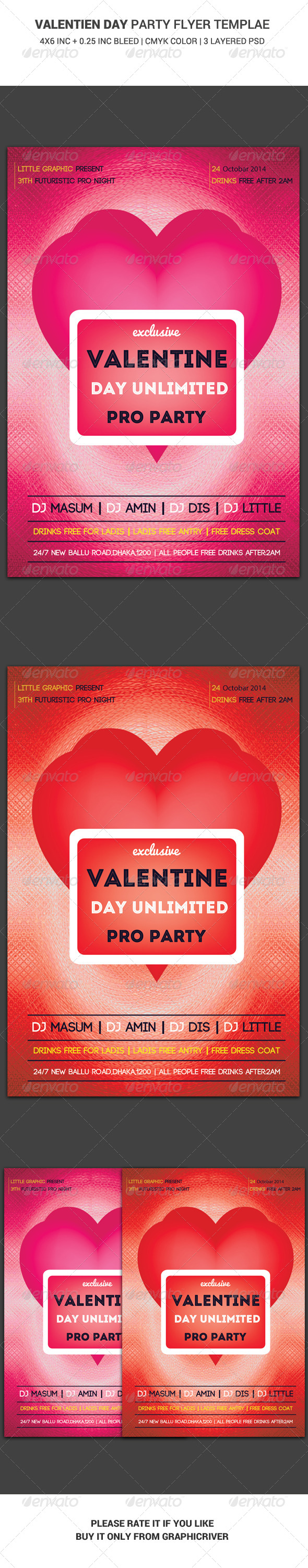 GraphicRiver Valentine Day Party Flyer Main File 6434273