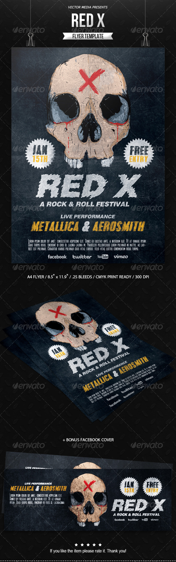 GraphicRiver Red X Flyer 6434286