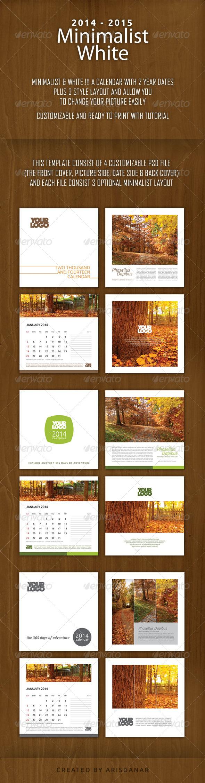 GraphicRiver 2014 2015 Minimalist White Calendar 6399836