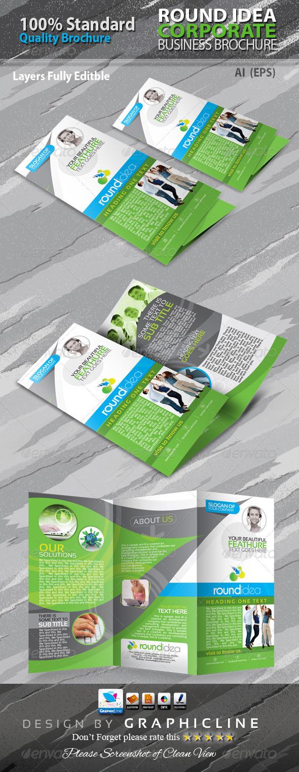 GraphicRiver Round Idea Tri-fold Corporate Business Brochure 6434367