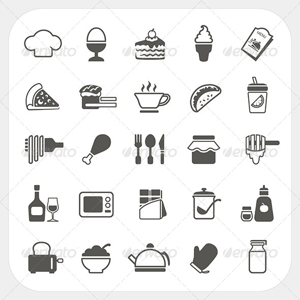 GraphicRiver Food Icons Set 6434465