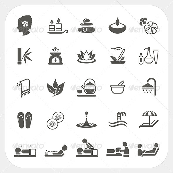GraphicRiver Spa Icons Set 6434469