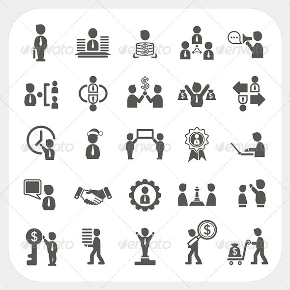 GraphicRiver Management and Business Icons Set 6434476
