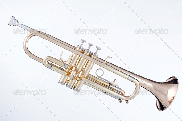 Stock Photo - PhotoDune Gold Trumpet Isolated On White 671726