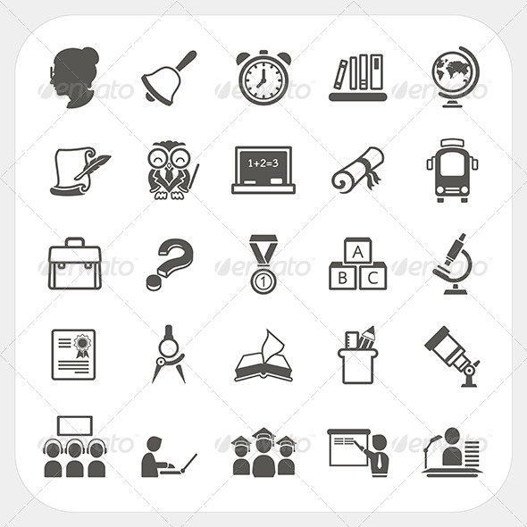 GraphicRiver Education Icons Set 6434481