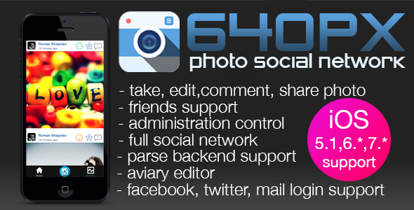 CodeCanyon 640PX Photo social network 6434587