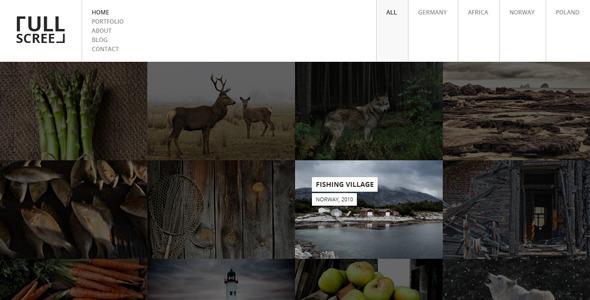 ThemeForest FULLSCREEN Photography Portfolio HTML5 6434590
