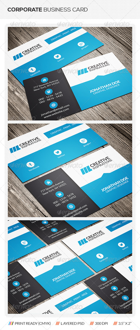 GraphicRiver Modern Corporate Business Card 6434604