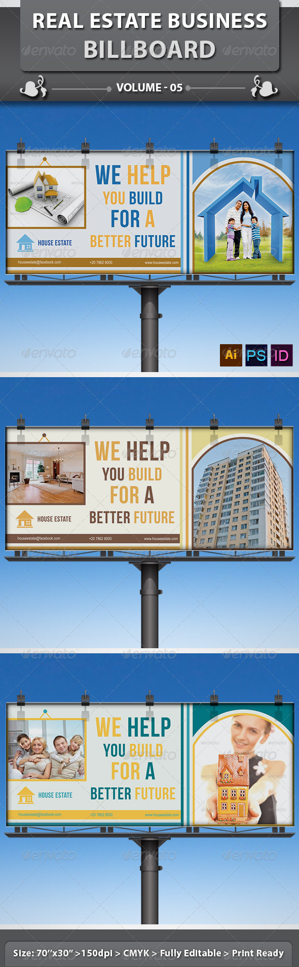 Real Estate Business Billboard | Volume 7 - Signage Print Templates