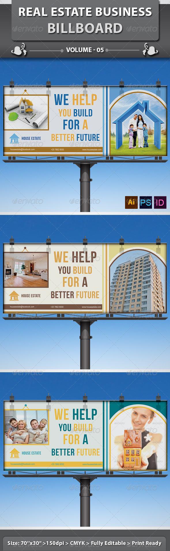 GraphicRiver Real Estate Business Billboard v5 6434610