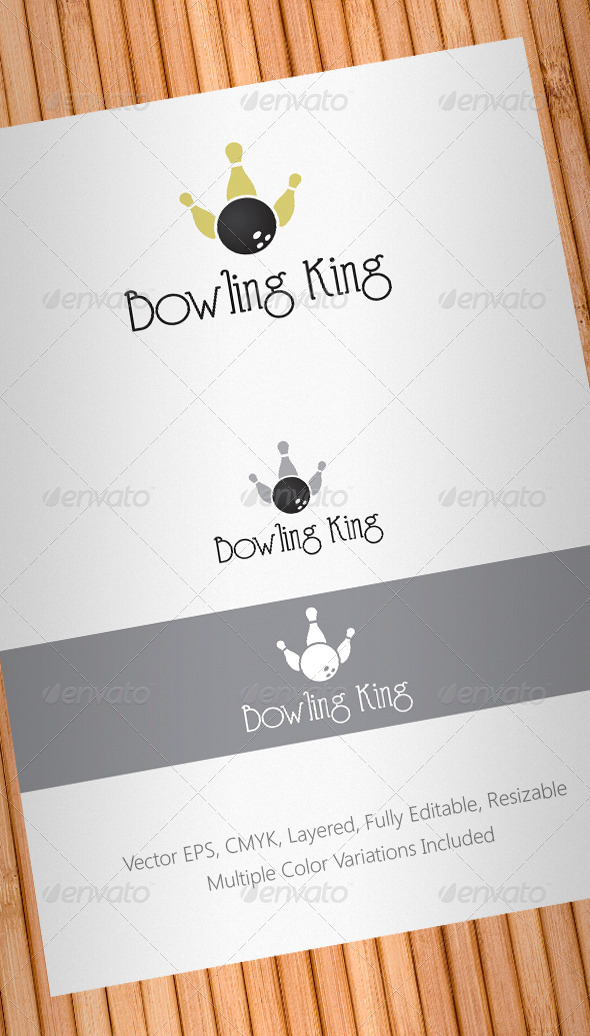 Bowling King Logo Template