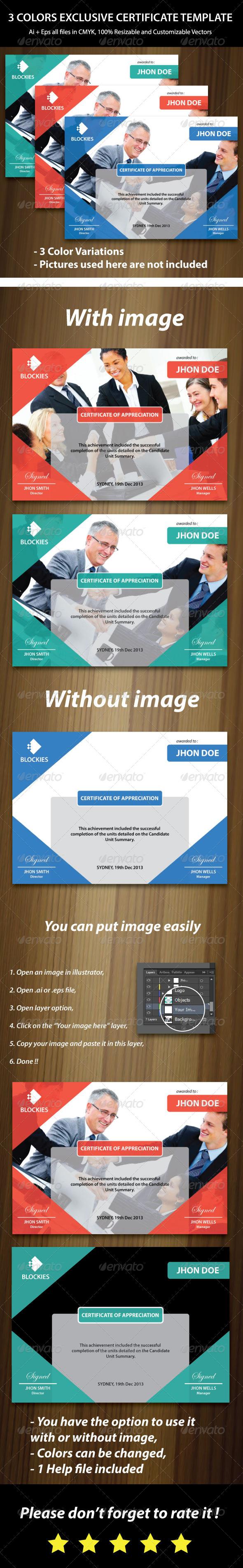 GraphicRiver Multipurpose Certificate Template 6434892