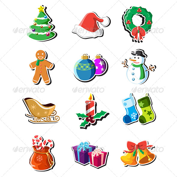 GraphicRiver Christmas Icons 6434993