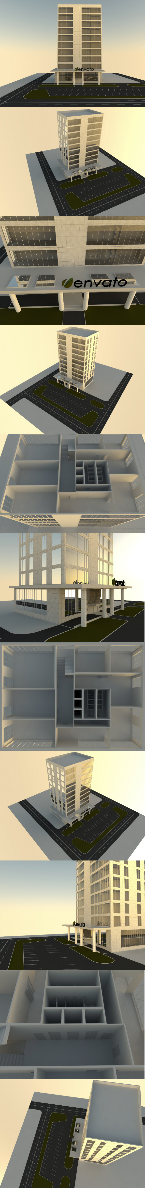 Office Building - 3DOcean Item for Sale