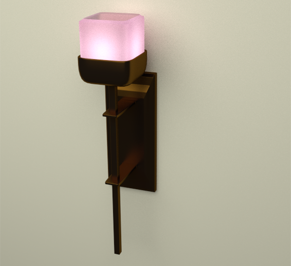 Lamp on wall + Light Bulb - 3DOcean Item for Sale