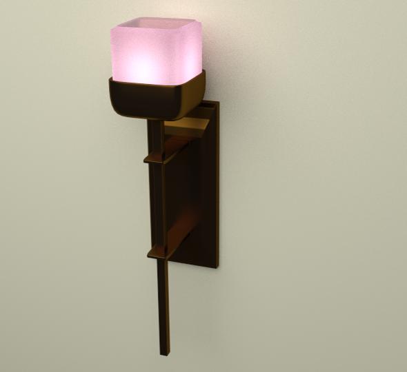 3DOcean Lamp on wall & Light Bulb 6435137