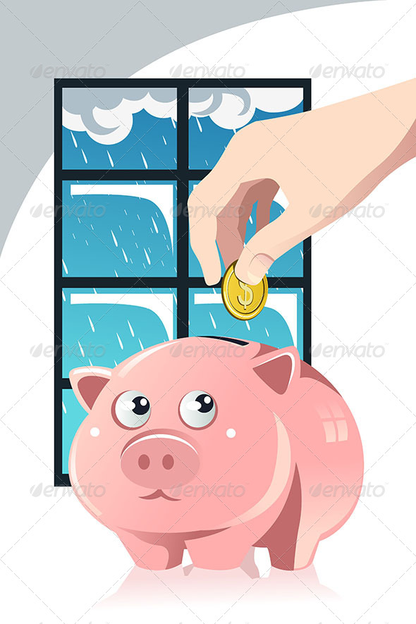 GraphicRiver Saving for the Rainy Day 6435139