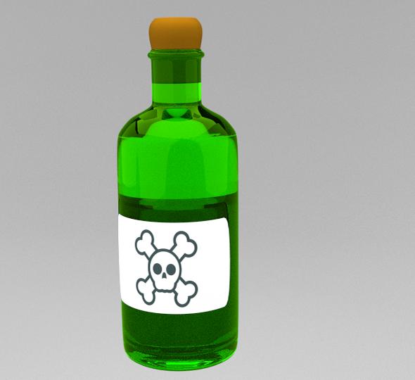3DOcean Poison Bottle 6435167