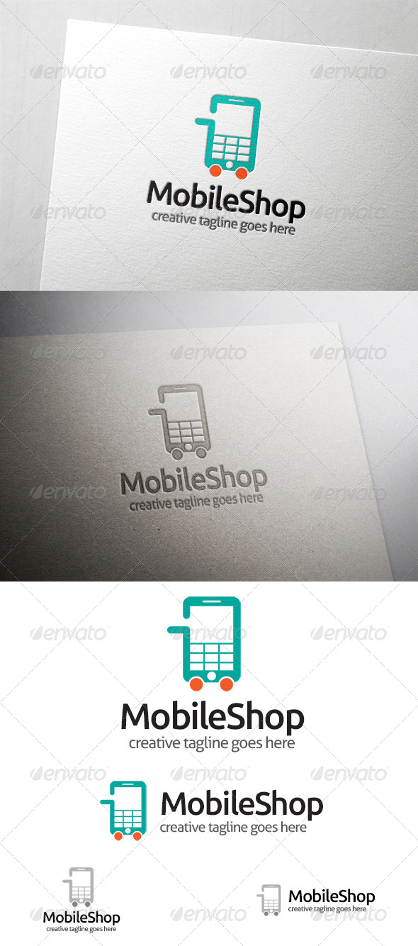 GraphicRiver Mobile Shop Logo 6435184