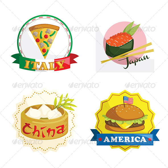 GraphicRiver International Gourmet Food Icons 6435226