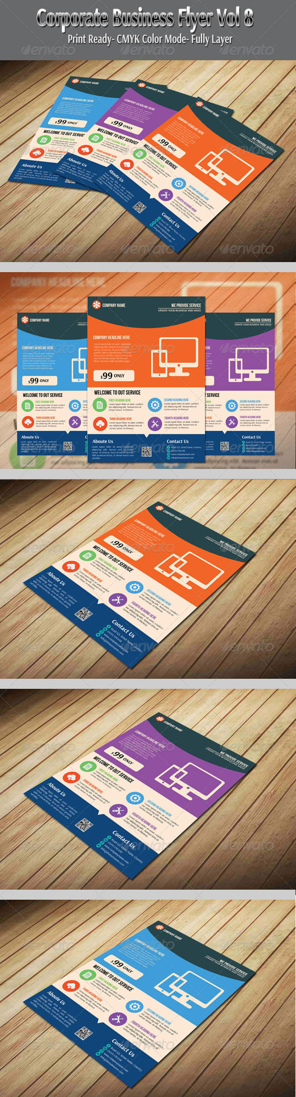 GraphicRiver Corporate Business Flyer Vol-8 6435261
