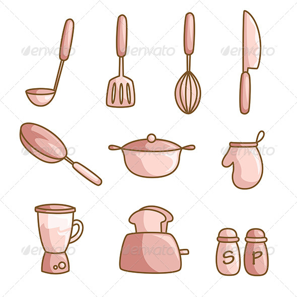 GraphicRiver Cooking Utensils 6435264
