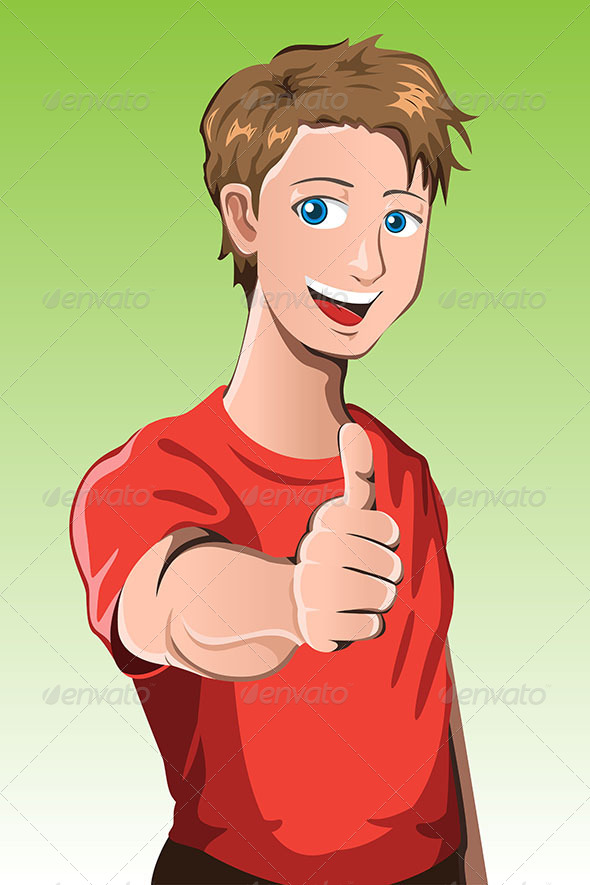 GraphicRiver Man with Thumb Up 6435266