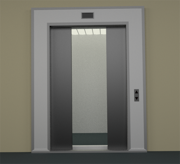 3DOcean Elevator & Doors animated 6435267