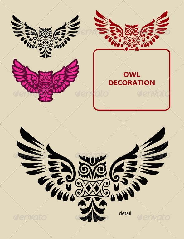 GraphicRiver Owl Decoration 6435420