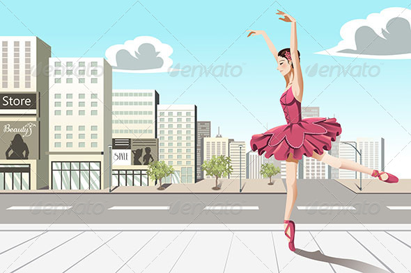 GraphicRiver Ballet Dancer in the City 6435460