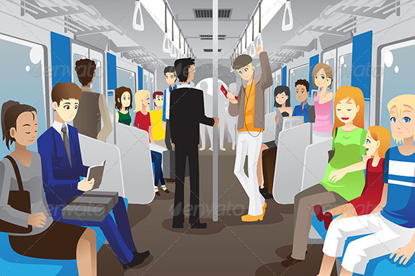 GraphicRiver People in Subway Train 6435585