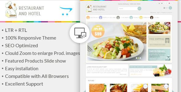 Restaurant - Responsive OpenCart Theme - OpenCart eCommerce