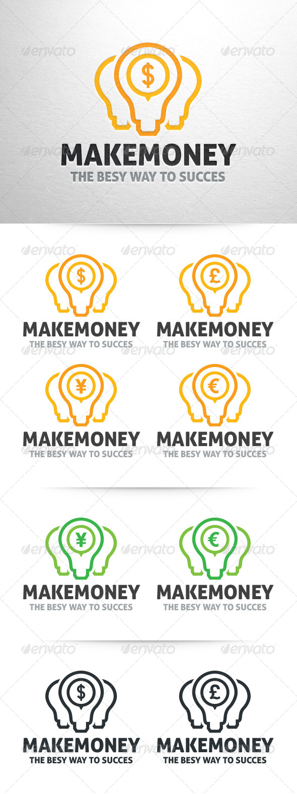GraphicRiver Make Money Logo Template 6435732