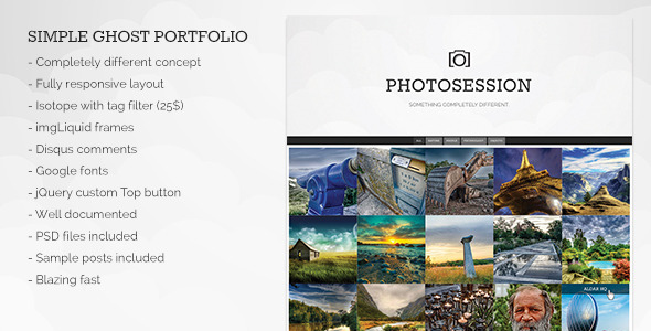 Photosession - Simple Ghost Portfolio Theme