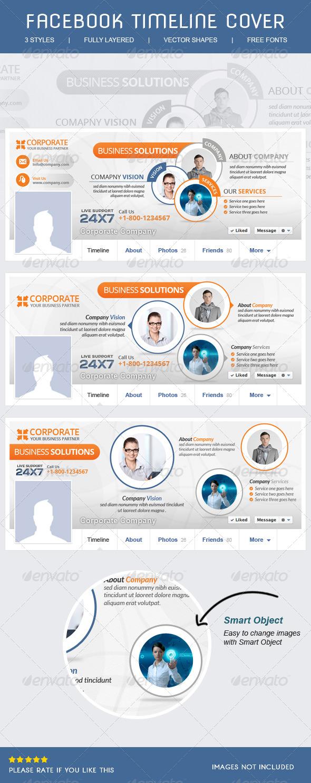 GraphicRiver Corporate Facebook Timeline 6436124