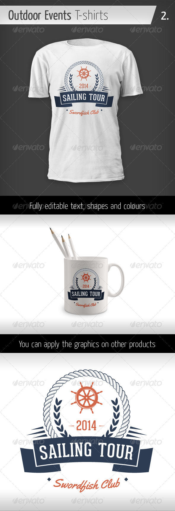 GraphicRiver Outdoor Events T-shirts Sailing Tour 6436151