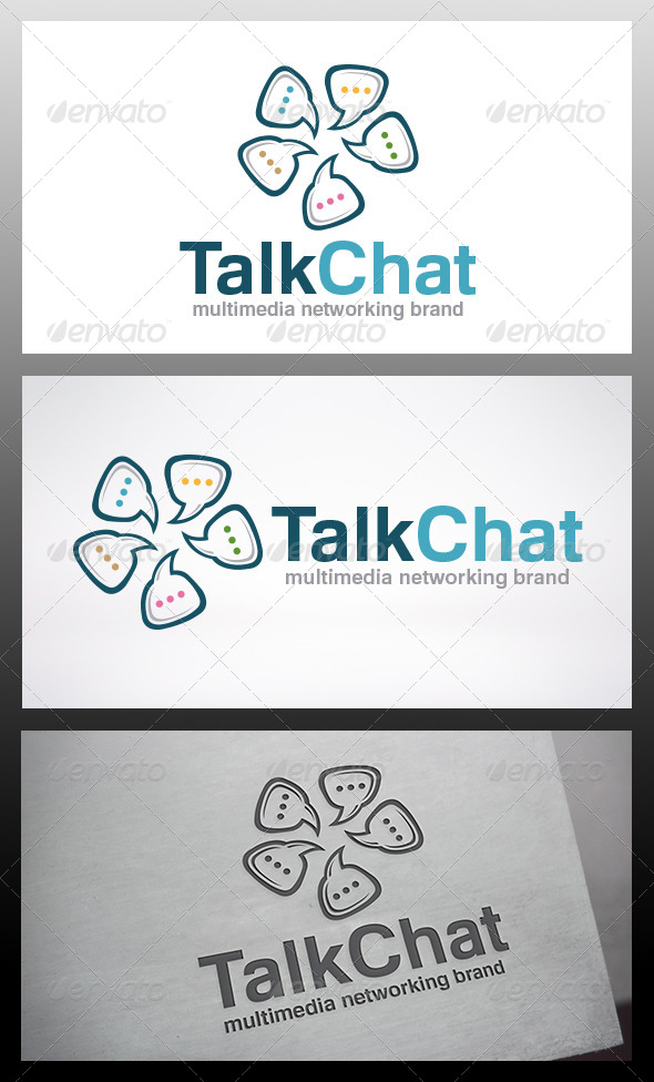GraphicRiver Chat Logo Template 6436173