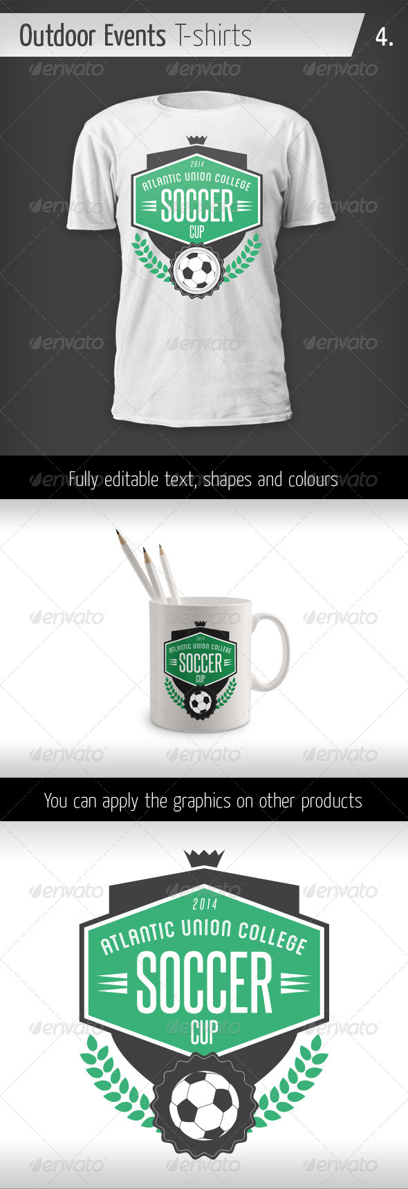 GraphicRiver Outdoor Events T-shirts Soccer Cup 6436186