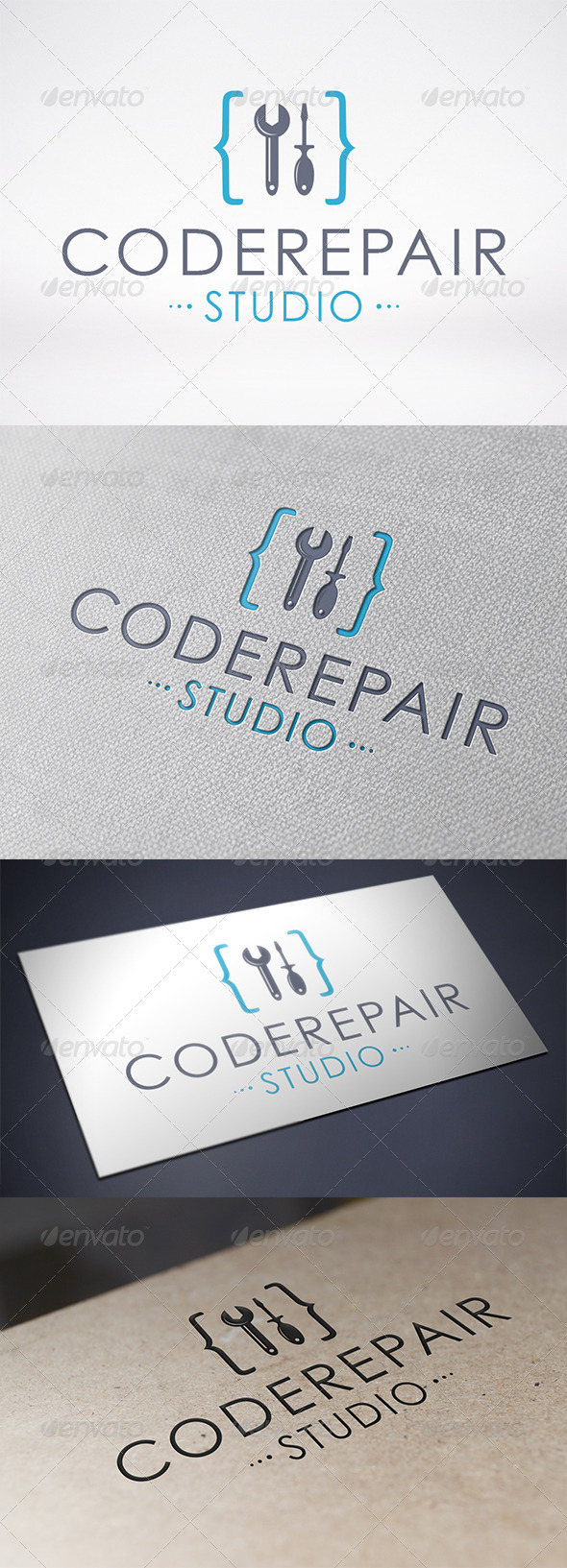Code Repair Logo Template - Objects Logo Templates