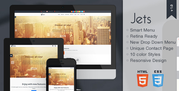 ThemeForest Jets Responsive HTML5 Template 6409649
