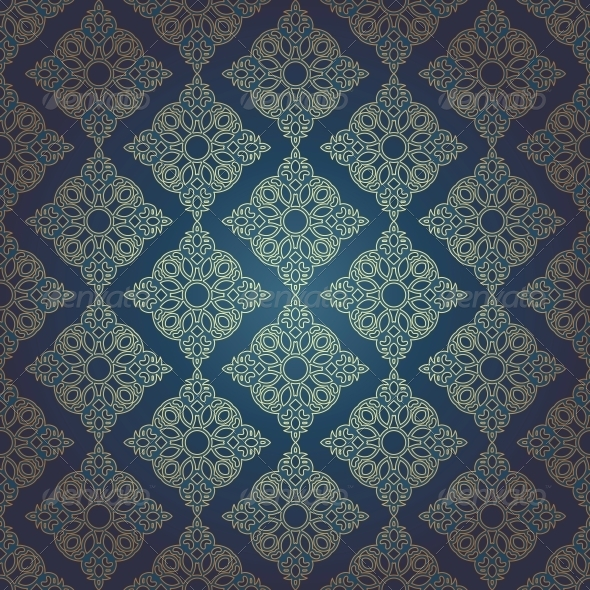 GraphicRiver Seamless Pattern in Mosaic Ethnic Style 6436285