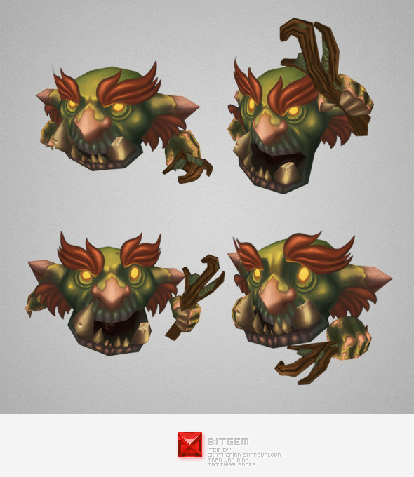 Low Poly Micro Troll Malak - 3DOcean Item for Sale