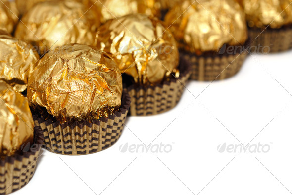 Sweets in wrapper isolated - Stock Photo - Images